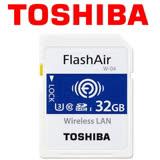 TOSHIBA 東芝 32GB FlashAir WIFI U3 SDHC W-04 Eyefi 記憶卡