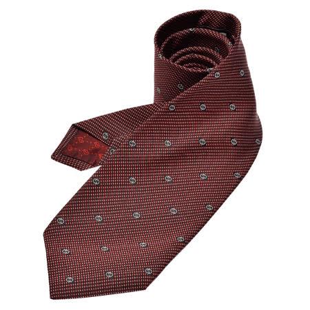 GUCCI 经典GG Guccissima缇花刺绣图案丝质领带(酒红)