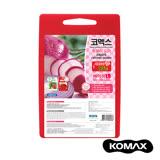 【索樂生活】韓國KOMAX抗菌銀離子紅白兩用雙面切菜砧板-大.戶外露營野炊居家廚房生熟食環保造型砧板料理用品
