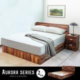 【obis】AURORA奧羅拉系列5尺六抽床底房間組2件式-床頭+床底