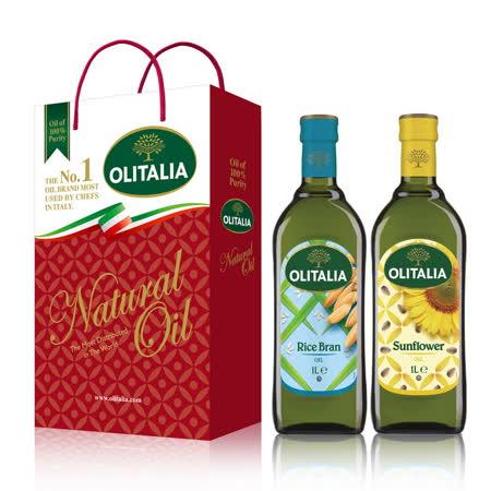 Olitalia奧利塔玄米油+葵花油禮盒組(1000mlx2瓶)