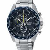 SEIKO精工 CS 重裝計時手錶-藍x銀/44mm 8T67-00H0B(SSB321P1)