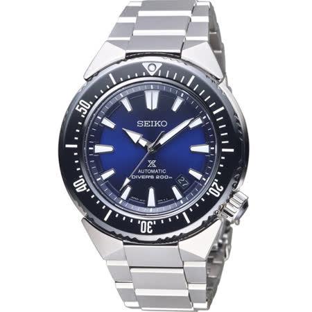 SEIKO PROSPEX  碧海藍天200米潛水機械錶 6R15-03G0B 黑x藍 SBDC047J