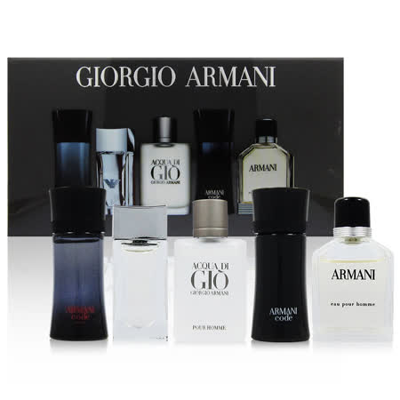 GIORGIO ARMANI 亚曼尼 男性小香五入礼盒组 (法国进口)