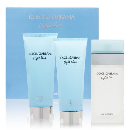 D&G 浅蓝 Light Blue 女性淡香水三件组礼盒(法国进口)