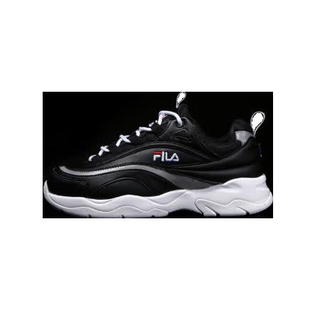 【FILA】韓版 FILA RAY 老爹鞋-黑(4-C614S-001)
