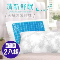 CERES-珠光圖騰<BR> 冰涼天絲冷凝膠枕2入組