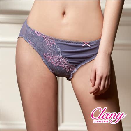 【可蘭霓Clany】奢華蕾絲性感抓皺M-XL內褲(低調灰 3996-61)