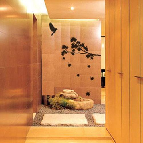 【ECO World 】進口壁貼-楓葉鳥