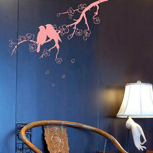【ECO World 】進口壁貼-櫻花鳥