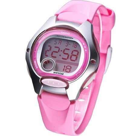 CASIO 電子美人彩色數字運動膠帶錶