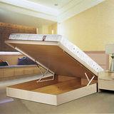 【Maslow-現代白橡】雙人掀床組-5尺(不含床墊)
