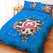 【享夢城堡】航海王 喬巴GOGOGO系列-單人床包薄被套組