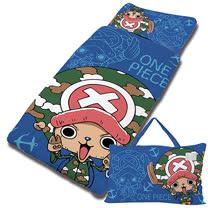 【享夢城堡】超纖單用4X5兒童睡袋-ONE PIECE航海王 喬巴GOGOGO-藍