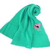 Barbie 喀什米爾愛心羊毛圍巾(藍綠)