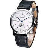 Ogival 愛其華 超薄手上鍊機械腕錶(388-1MSP)