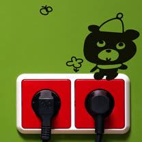 【Design W 壁貼】質優 Switch bear (4款一組)