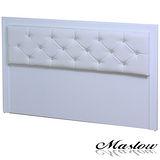 【Maslow-宮廷水鑽純白】加大床頭片-6尺