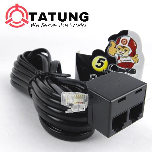 ~TATUNG~電話變化延長線 黑 5M 3入組 TBAV~C147