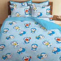 【享夢城堡】哆啦A夢 我的法寶系列-雙人床包兩用被組