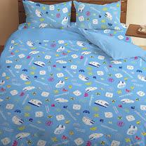 【享夢城堡】新幹線 可愛新幹線系列-雙人床包涼被組