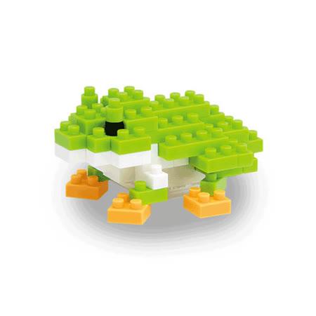 (任選)《Nano Block迷你積木》【可愛動物系列】NBC-007 青蛙