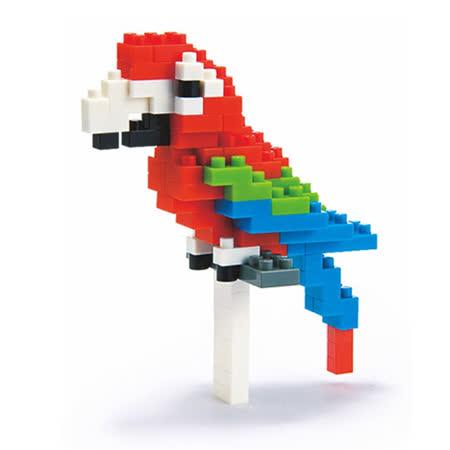 《Nano Block迷你積木》【可愛動物系列】NBC-034 金剛鸚鵡