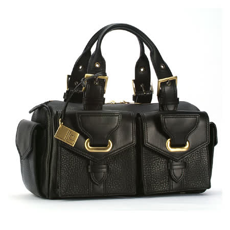 JEAN-LOUIS SCHERRER 波士頓手提包-黑色