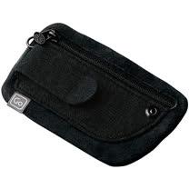 《GO TRAVEL》夾式隨身零錢證件包(黑)