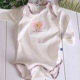 (購物車)★魔法Baby★台灣製造格紋邊長袖連身衣~嬰幼兒童裝~k06059