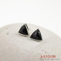 【石頭記】南方佳麗黑瑪瑙耳環-三角形