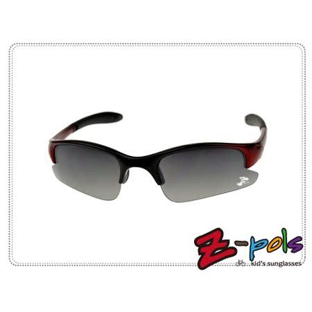 《Z-pols小朋友太阳眼镜运动系列款》顶级PC防爆太空帅黑镜片+酷炫烤漆黑红框,动感上市!