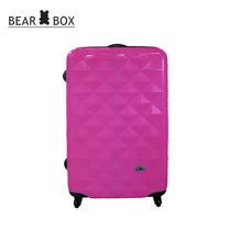 BEAR BOX 晶鑽系列★PC亮面輕硬殼28吋行李箱-晶鑽桃