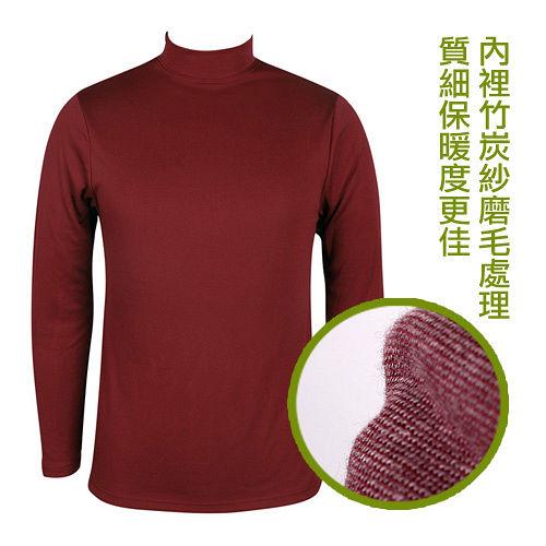 LACOYA 男立領長袖保暖衣 AP020~3紅