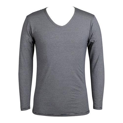LACOYA EKS瞬間發熱男V領衫 AP047~4 藍白條紋