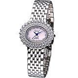 Ogival 愛其華 高雅粉紅薔薇 時尚腕錶-(380-03DLS)橢圓粉色