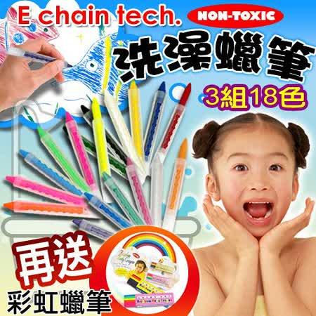 tech 儿童洗澡蜡笔组《一般/萤光/珠光亮粉色~3组18入》-SOFT 99蜡图片
