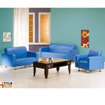 金吉利~(藍色)PVC皮沙發~1+2+3人組