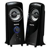 【SANYO】三洋2.0聲道多媒體電腦喇叭-雷之音(黑)