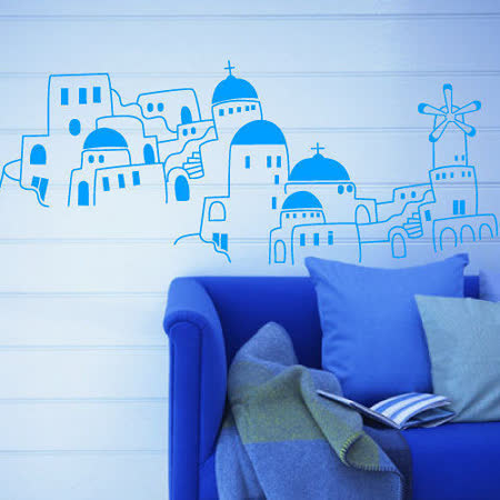 Art STICKER壁貼 。 地中海希臘風120X50cm (B019)