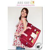 【ABS愛貝斯】貝斯貓拼布旅行袋(大型旅行袋)-亮彩紅(88-129)
