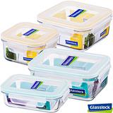 Glasslock強化玻璃微波保鮮盒-精巧4件組