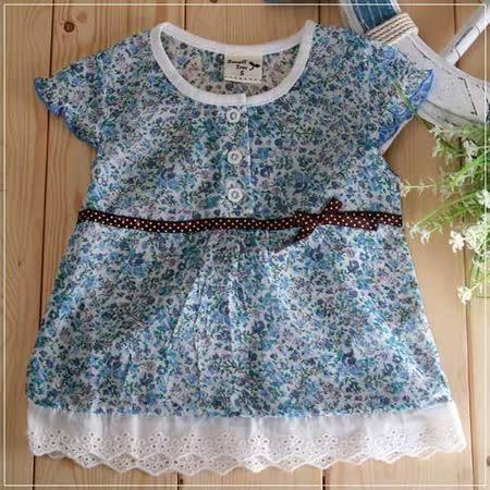 (購物車)魔法Baby ~氣質系碎花蕾絲小洋裝~女童裝~時尚設計童裝~k19315