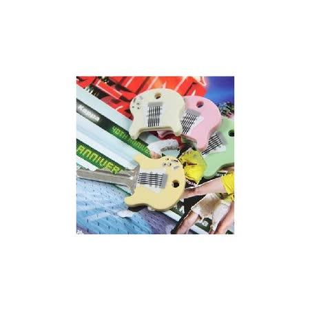 韓版吉他造型矽膠材質鑰匙套