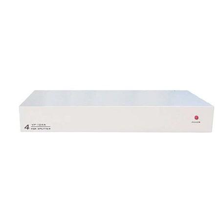 PSTEK VP-104 4埠電腦螢幕分配器(鐵殼)