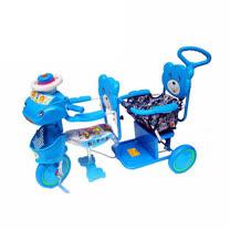 【MIT台灣童車】全配雙人三輪車 ( 藍 / 粉 )