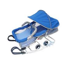 【MIT台灣童車】雙管加寬分段彈搖椅 ( 藍 / 卡其 )
