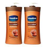 (超值二入) 進口Vaseline凡士林 可可亞潤膚乳液-600ml