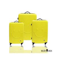 Bear Box 一見你就笑 ★ ABS霧面輕硬殼行李箱三件組-微笑黃