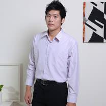 JIA HUEI 長袖柔挺領吸濕排汗防皺襯衫 3158 條紋粉[台灣製造]